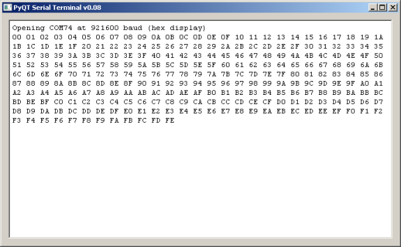 PyQt serial terminal – Lean2